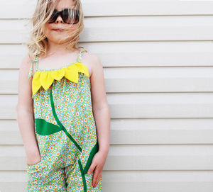 Sunflower Baby Girls Beach Romper Playsuit