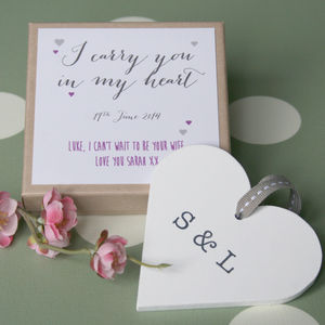 Personalised Bride/Groom Wedding Heart - wedding favours