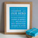 Personalised Typographic Dad Print