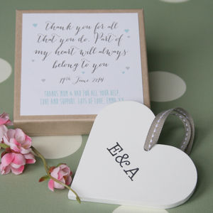 Personalised Parents Wedding Heart - wedding favours