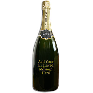 Engraved Magnum Of Champagne