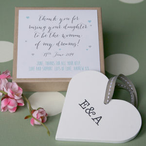 Personalised In Law Wedding Heart - heart favours