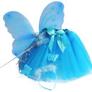 Turquoise wings, wand & headband - skirt not included