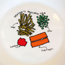 Personalised Illustrated Favourite Meal Plate