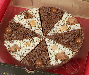 Double Delight Chocolate Pizza - sweet treats