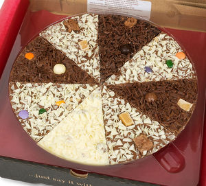Delicious Dilemma Chocolate Pizza - food & drink gifts