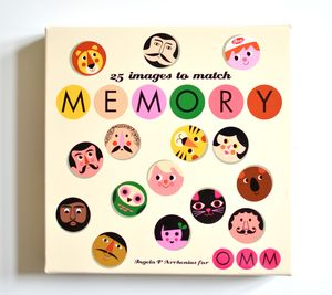 Faces Memory Matching Game - board games & puzzles