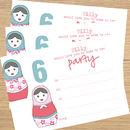 12 Children's Party Invitations For Girls