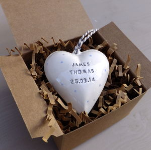 Personalised Ceramic Hanging Heart