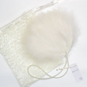 Jolie Ivory Feather Bridal Wedding Purse - wedding fashion