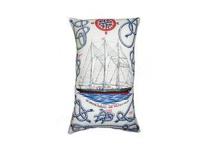 Vintage Linen Sailing Ship Cushion - cushions