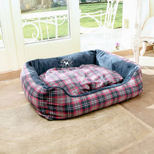 Tartan Pet Bed - dogs