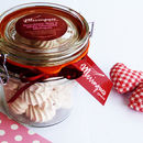 Rose, Strawberry And White Chocolate Meringues In A Jar