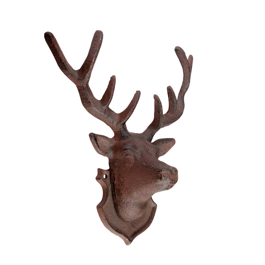 Stag Head Wall Sculpture Cast Iron By Garden Selections