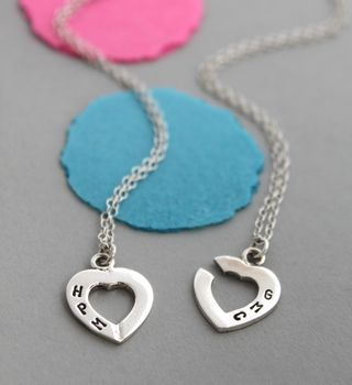 Personalised Connected Heart Necklace