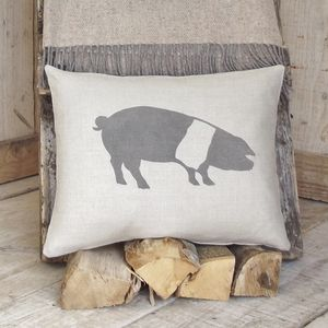 ' Saddleback Pig ' Cushion