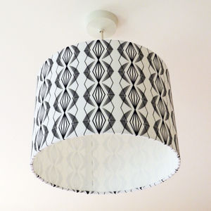 Imperial Diamond Drum Lampshade - bedroom