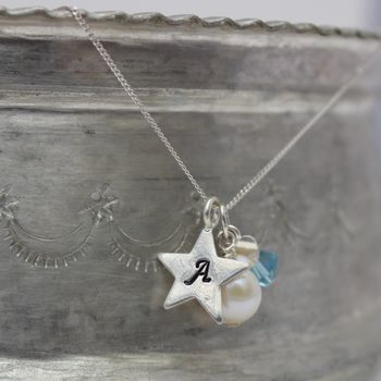 Birthstone And Charm Necklace