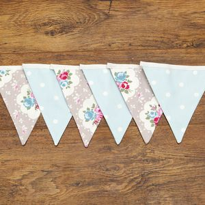 Floral Dotty Rose Bunting For Weddings Or Home Decor