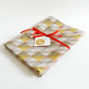 Triangular Windows Cotton Tea Towel