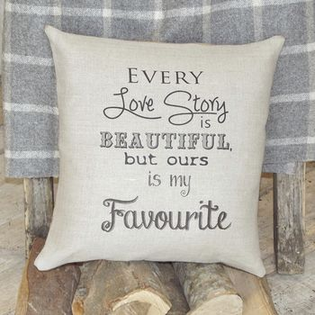 ' Our Love Story ' Cushion