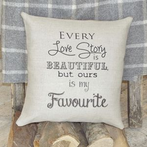 ' Our Love Story ' Cushion - cushions