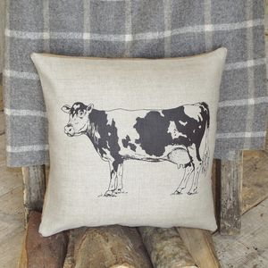 Linen Cow Cushion