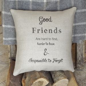 ' Good Friends ' Cushion - patterned cushions