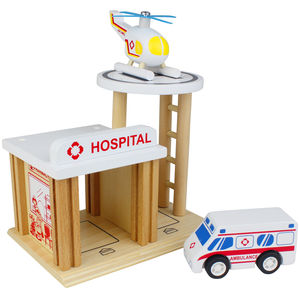 Wooden Hospital Playset - toys & games