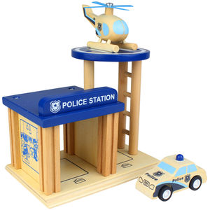 Wooden Police Station Playset - traditional toys & games