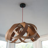 Wooden Daisy Pendant Lampshade - home