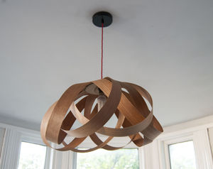 Wooden Daisy Pendant Lampshade - lighting
