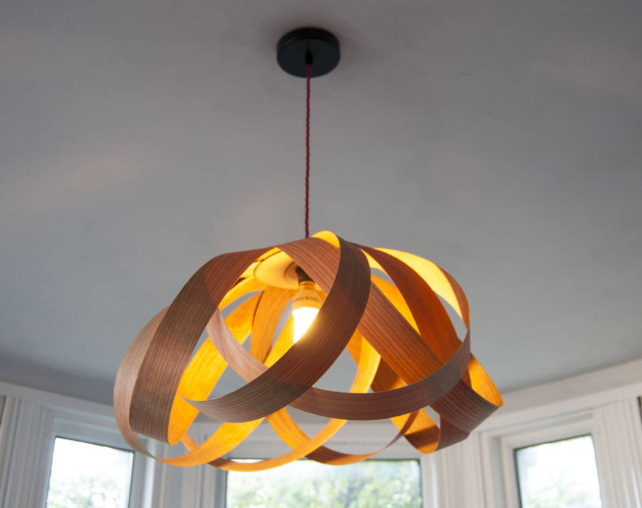 Wooden daisy pendant lampshade by randomlights notonthehighstreet cherry wood aloadofball Gallery