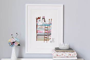 Personalised Princess And The Pea Print