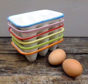 Handmade Ceramic Egg Crate - playful kitchen