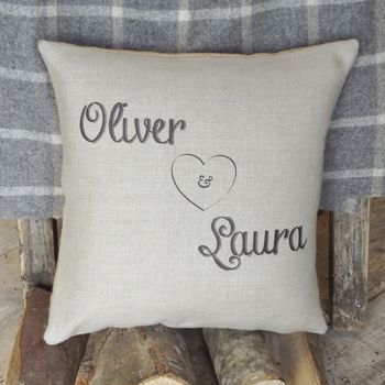 ' Personalised Love ' Cushion