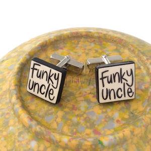 'Funky Uncle' Handmade Cufflinks
