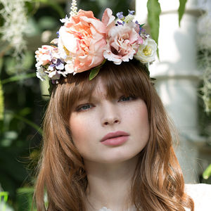 Peony Statement Flower Crown - wedding fashion