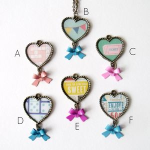 Fun Hearts Bronze Necklace
