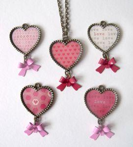 Love Hearts Bronze Necklace - necklaces & pendants