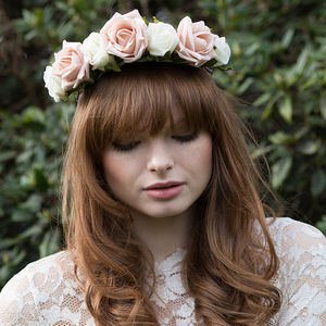 Rose Flower Crown Headband - wedding fashion