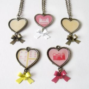 Sweet Hearts Bronze Necklace - necklaces