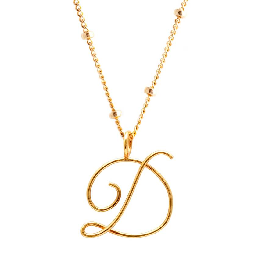 yellow on pendant days wednesday business in order ships with diamond gold letter necklace chain initial l now