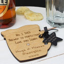 Thumb personalised wooden beer mug coaster
