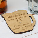 Personalised Wooden Beer Mug Coaster