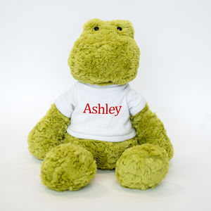 Personalised Frog Soft Toy - soft toys & dolls