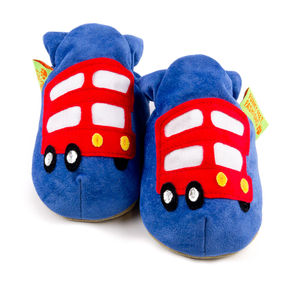 London Bus Soft Baby Shoes