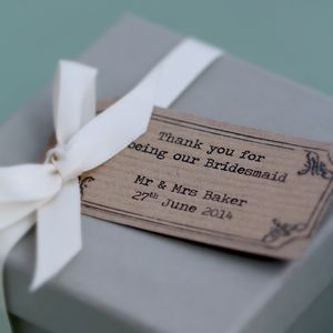 Personalised Thank You Bridesmaid Box - wedding thank you gifts