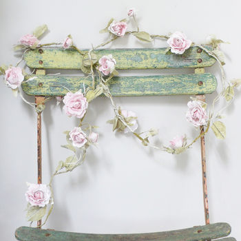 Paper Rose Flower Garland