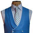 Cornflower Blue Double Breasted Waistcoat